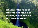 w clement stone