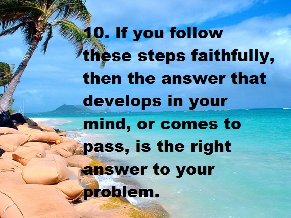 Steps to solve problems