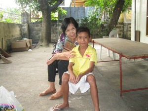 The little guy is Jericho who was left at the orphanage about a month ago.