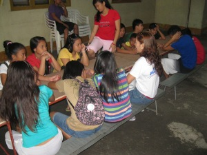 At the orphanage in Manila.