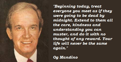 Og Mandino Give Me 5 Minutes A Day And Ill Give You A Happier